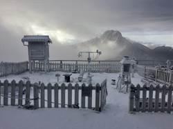玉山又下雪 周末2千公尺山區也有雪