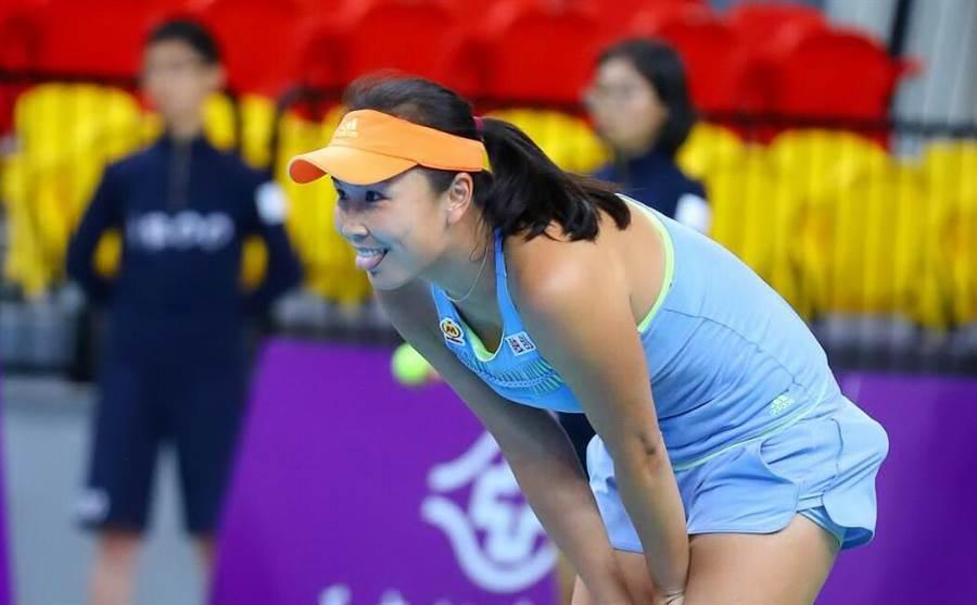 彭帥在法網女雙首輪落敗後重申以後絕對不會再和謝淑薇搭檔。(WTA台灣賽提供/資料照)