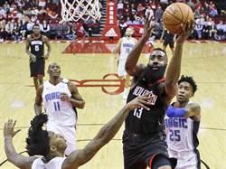 NBA》大鬍子爆發!哈登轟生涯新高60分加大三元