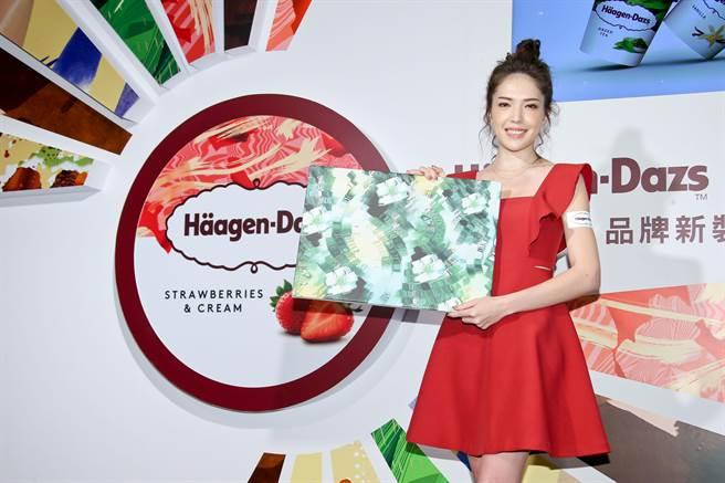 愛吃冰淇淋的許瑋甯興奮能接下Häagen-Dazs品牌大使的工作。(羅永銘攝)