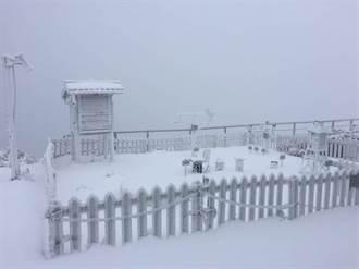 天氣一路冷到下周四 玉山積雪已達8公分