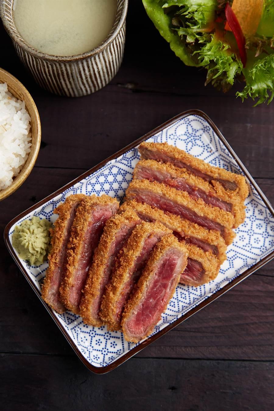 乍牛台北、台中店同步推出新菜色「1855 黑安格斯牛排定食」。(圖片來源:王品提供)