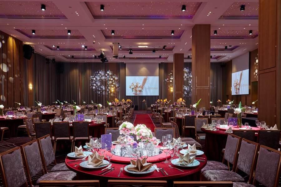凱達飯店 挑高七米的宴會廳。(圖╱ 樂時尚)