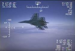 影》美國公布俄Su-27戰機危險飛行影片