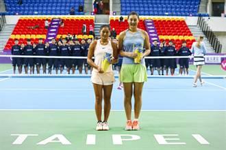 WTA臺灣賽》搶七強運 中國段瑩瑩、王雅繁女雙奪冠