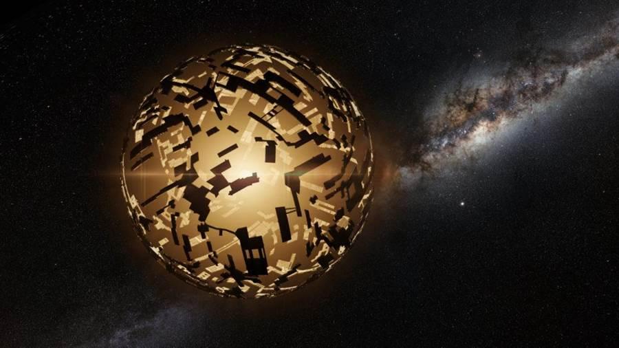戴森球是天文學家對於外星高級文明的一種想像,把整個恆星給包起來當成能量源。(圖/NASA)