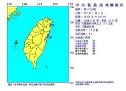 規模4以上地震今天連7起 氣象局:山區注意土石鬆動