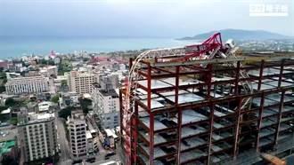 花蓮強震》樓高21層最大地標 艾美酒店工地吊臂已震歪