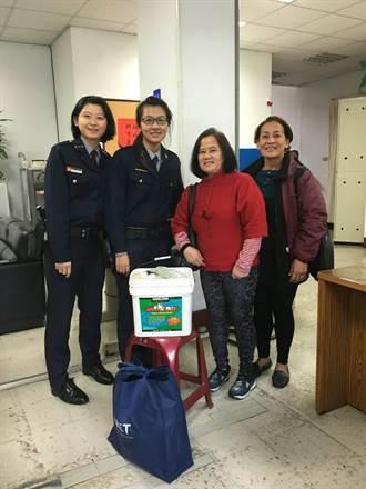 大同建成所女警尋回菲籍女外勞行李