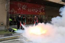 安心過好年!中和購物中心消防演練
