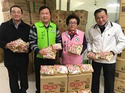 曾朝榮、邱素貞捐10萬買暖暖包協助災民度寒冬