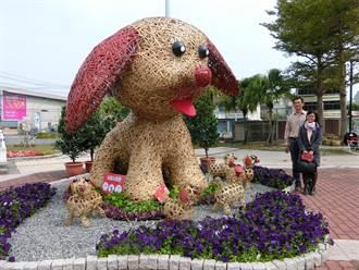 狗年到 歸仁文化中心大型米格魯狗應景吸睛