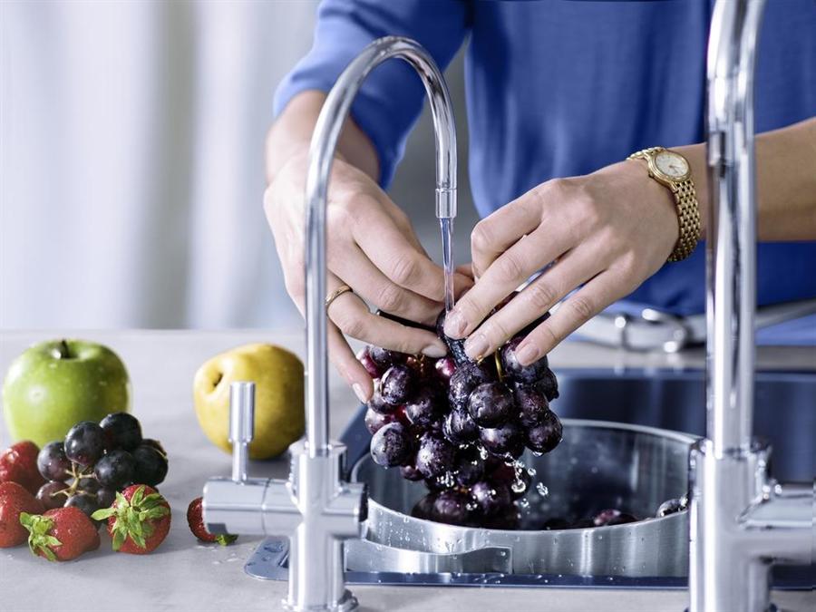 用mypure pro X9水龍頭流出來的水清洗食材及烹飪,安心又美味。BRITA提供