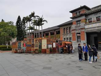 新竹市府前裝置藝術 「祈願屋」為花蓮祈福