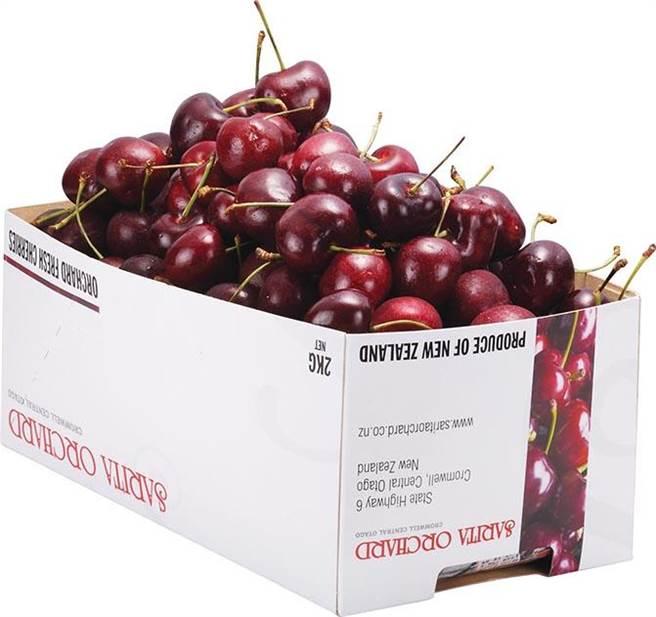 家樂福紐澳空運大櫻桃(原裝),過年送禮超體面,2公斤、1588元。(家樂福提供)