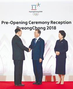 平昌冬奧會開幕 朝美高官零互動