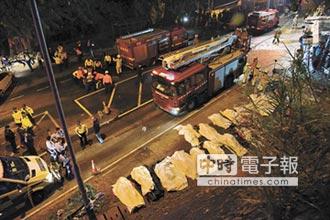 港大巴翻覆奪18命 車頂被削