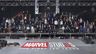 電影歷史重要的一刻!漫威宇宙10周年紀念 英雄們齊聚同框大合照