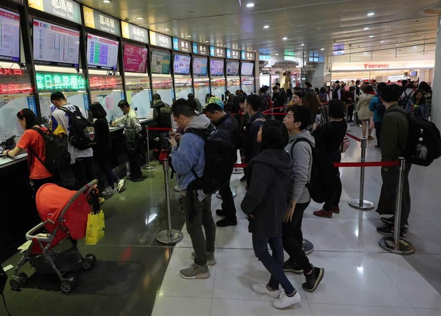 台北轉運站。(中央社提供)