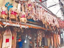 老牌臘肉店肉門簾 古風成打卡熱點