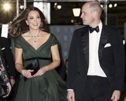 反性侵!凱特王妃英奧斯卡黑衣海中綠禮服現身惹議