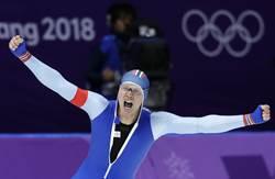 圖輯》0.01秒定勝負 挪威選手500m競速滑冰破紀錄摘金
