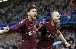 梅西9度對決終於進球 巴薩歐冠逼和切爾西