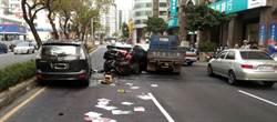 踩錯煞車連環撞 4車遭殃3人傷