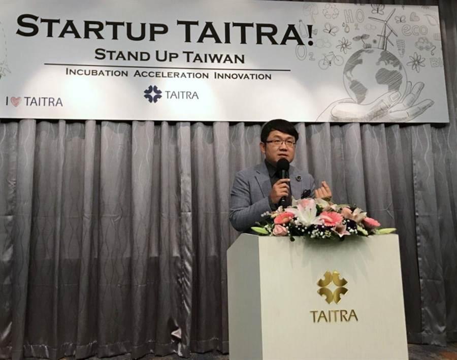 貿協對協助新創有四步驟作法,副董事長劉世忠說還要找台灣企業募捐,引進國際知名新創團隊駐點或設培訓中心。(圖: 貿協提供)