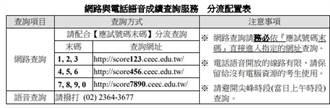 大學學測成績單今寄發 上午9時開放網路及電話查詢