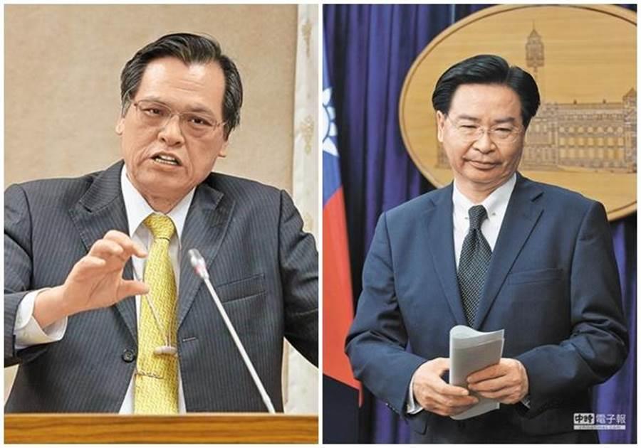 陳明通(左圖)接任陸委會主委;吳釗燮(右圖)出任外交部長。(本報系資料照片)