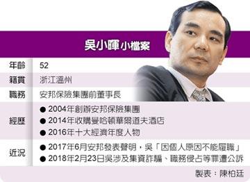 吳小暉遭訴 安邦保險被接管