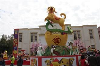 台灣彰化燈會點亮古蹟城 187盞來自全國花燈競豔