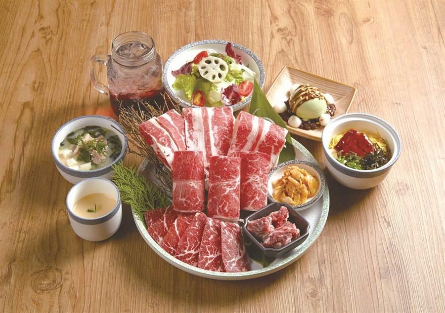 原燒台北林森店推出全新饗樂套餐。(原燒提供)