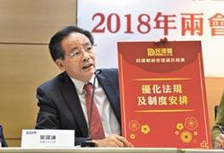 台灣同胞權益法 陸年內擬定
