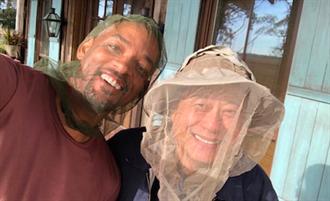 《雙子殺手》開拍 李安、威爾頭罩「蚊帳」防蟲