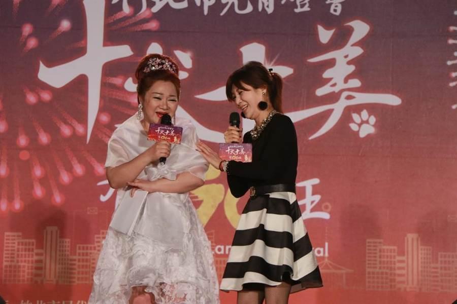 白冰冰(左)與蔡秋鳳多年好交情。(圖片提供:中視)
