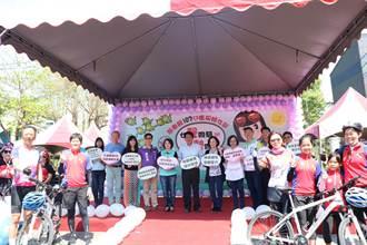 屏縣府慶祝婦女節 百人騎單車遊客庄