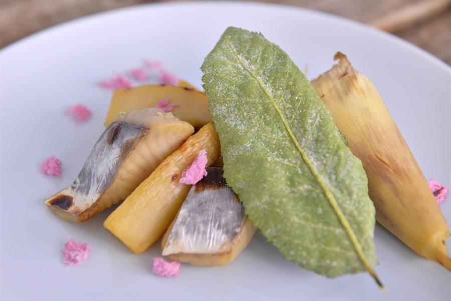 鰆魚竹筍櫻花味噌燒。(和食EN日本料理提供)