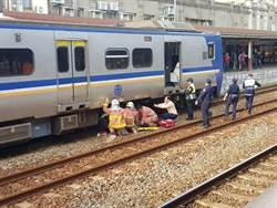 台鐵新竹站事故 疑跌落鐵軌旅客 遭區間車撞擊送醫