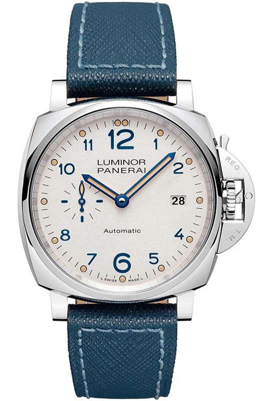 Panerai今年推出的Luminor Due,錶徑僅38mm,是品牌歷年來最小錶徑的腕錶/198,000元。(圖/Panerai )