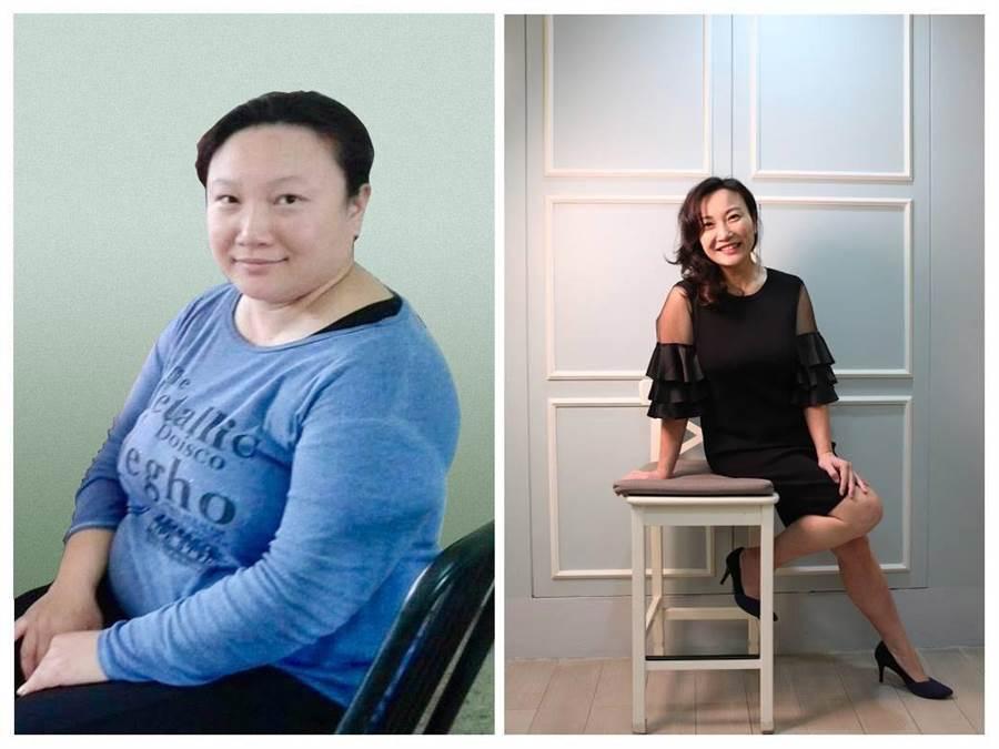 本書作者接觸生酮飲食之後,一年多之內就成功瘦了30公斤。(圖/出版社提供)