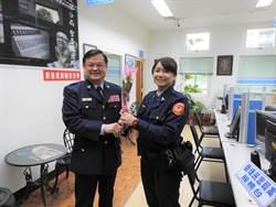 38婦女節 龍潭警分局長送花表感謝
