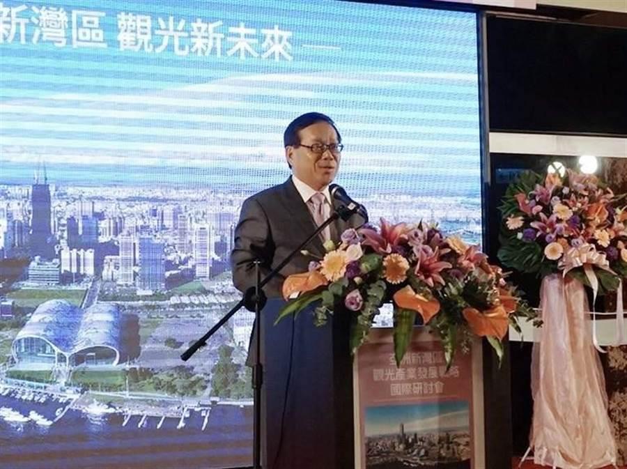 高雄DC21召集人張國光今日表示,亞洲新灣區觀光產業,將是高雄投資新亮點。(圖/顏瑞田攝)