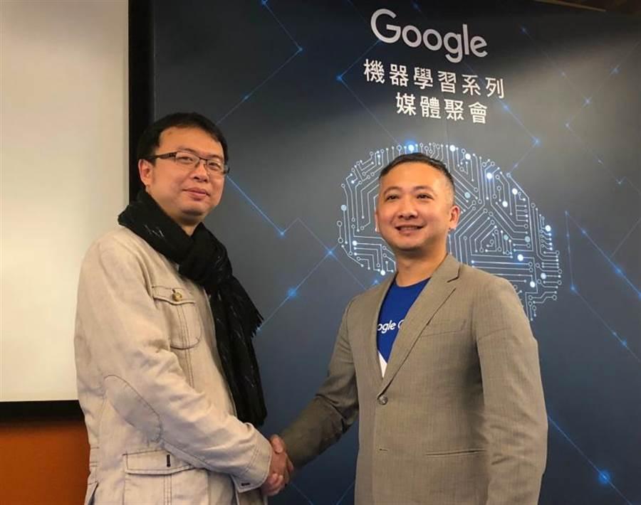 左起為和明紡織策略執行顧問李佳憲與Google雲端企業客戶經理田哲禹。(圖/黃慧雯攝)