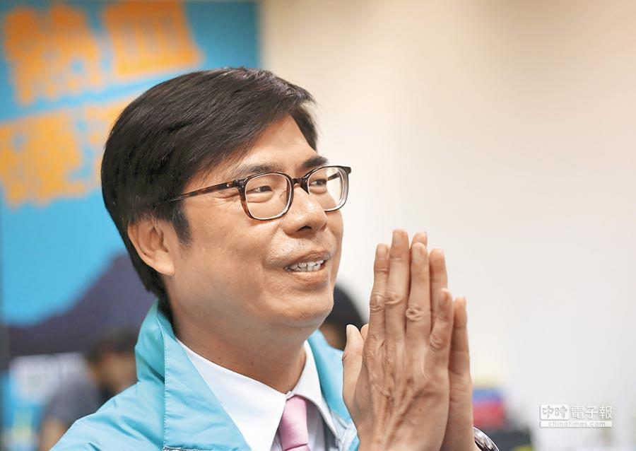 競爭激烈的民進黨高雄市長初選民調7日出爐,立委陳其邁以35.9%支持率壓倒性勝出。(王錦河攝)