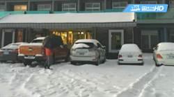 三月降瑞雪!冷氣團發威 合歡山積雪18cm