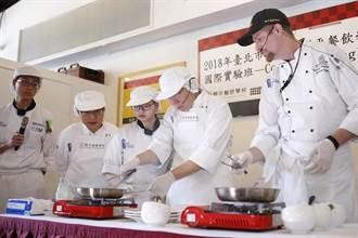 柯文哲造訪開平餐飲煎牛排 體驗國際班英語烹飪課