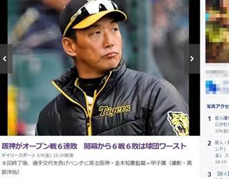 熱身賽前6戰全敗...阪神虎糗締隊史紀錄