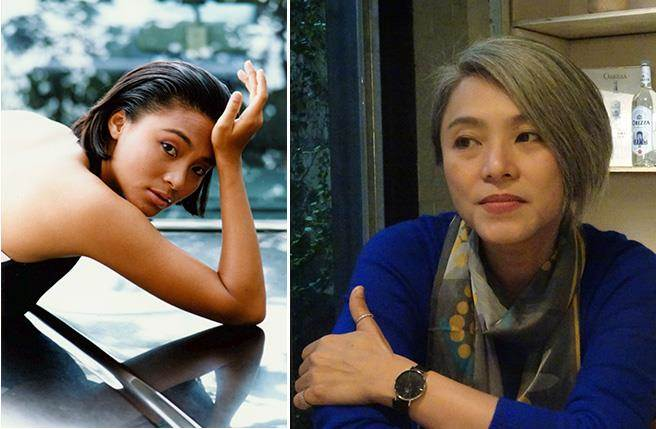 當年國片一線女主角的蕭紅梅(圖左/本報系資料照片 羅繼志攝)嫁給香港富商後淡出,多年未見,竟以全頭白髮造型示人,原來她30歲後頭髮就已全白。(圖右/倪有純攝)